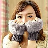 Keland 4 Colors Women Arm Warmer Knit Fingerless Long Gloves Leisure New