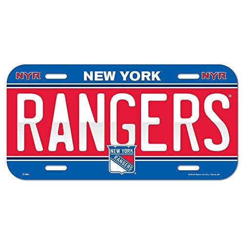 New York Rangers License Plate