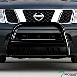 Nissan Off-Road Bumpers - Topline Autopart Black Bull Bar Brush Push Front Bumper Grill Grille Guard With Skid Plate For 05-18 Nissan Frontier ; 05-07 Pathfinder ; 05-15 Xterra