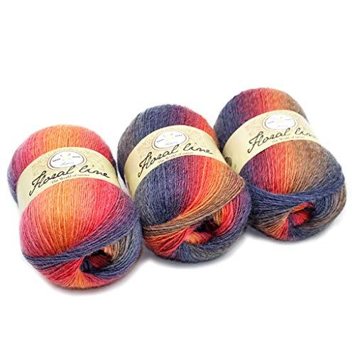 - Sample9 Soft Worsted Yarn Rainbow Gradient Colors DIY Baby Knitting Wool Shawl Scarf Crochet Thread Supplies
