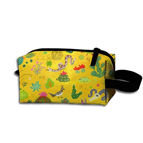 Makeup Cosmetic Bag Lovely Cartoon Animals Zip Travel Portable Storage Pouch For Men Women by Alone