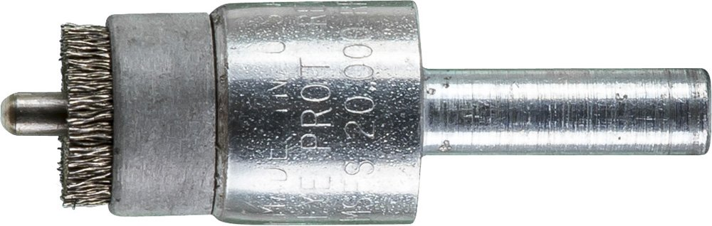 PFERD 83188 Stem Mounted Specialty Wire Brush, Stainless Steel Wire (INOX), 1/2'' Diameter, 1/4'' Stem Diameter.005 Wire Size, 20000 Max RPM (Pack of 10)