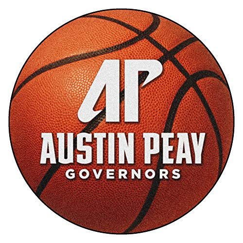 FANMATS NCAA Austin Peay State University Governors Nylon Face Basketball Rug ()
