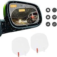 LonEasy 2PCS película antiniebla para automóvil, película de Lluvia para Espejo retrovisor, Protector de Pantalla...