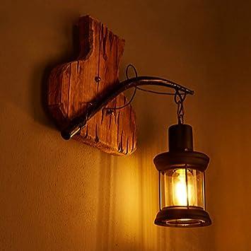 Lampe De Décoration En MurLoft Creative YjhRétro Bois Art iPXZTOku