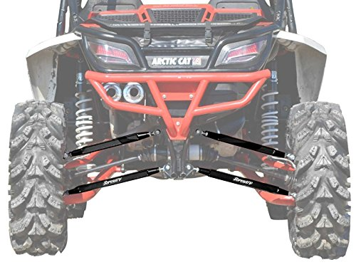 SuperATV Heavy Duty Boxed Rear Radius Arms/Rods for Arctic Cat Wildcat (2013+) - Black