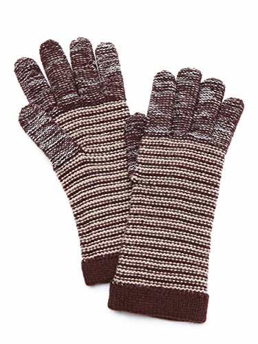 Grandoe Women's Touchscreen Stretch Knit Gloves - Plum/Natural - L/XL