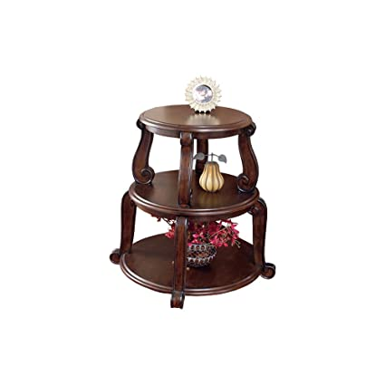 Ashley Furniture Signature Design   Brookfield Round End Table   2 Shelves    Traditional   Circular