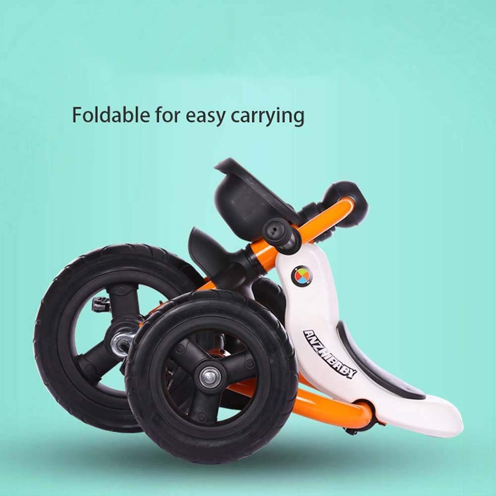 blu adatto per bambini dai 2 ai 6 anni facile da trasportare triciclo per bambini Installazione gratuita del triciclo per bambini pieghevole