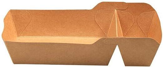 Disposable kraft cubiertos de papel, bandeja doble biodegradable ...