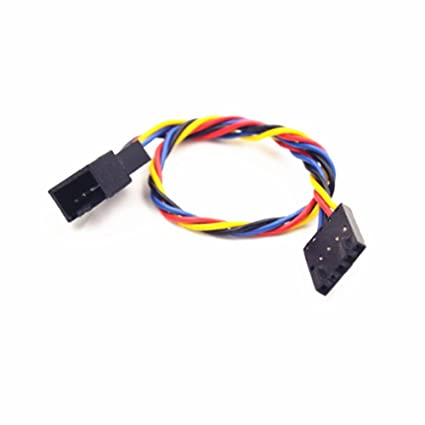 amazon com: pocaton 5pin female to 4pin male socket connector jack pwm  cooling fan power cable for dell pc: computers & accessories