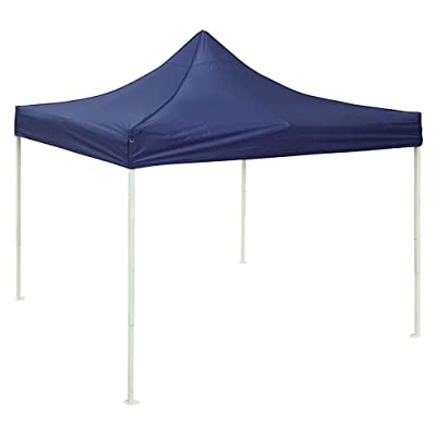 ZeHuoGe Blue 9.6 x 9.6FT Easy Pop-up Tent Canopy Replacement Top Cover 420D Waterproof Oxford + PVC Coating Double Line Sewing Self-Adhesive Straps D Ring On Corner US Delivery (Blue) : Garden & Outdoor