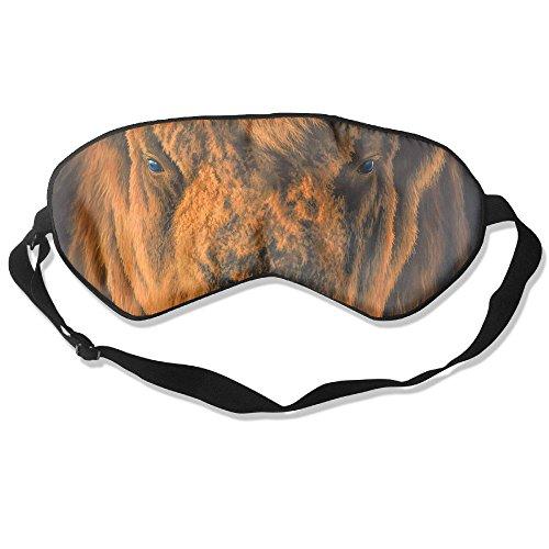 (Sleep Mask Bison Head Eye Cover Blackout Eye Masks,Soothing Puffy Eyes,Dark Circles,Stress,Breathable Blindfold)