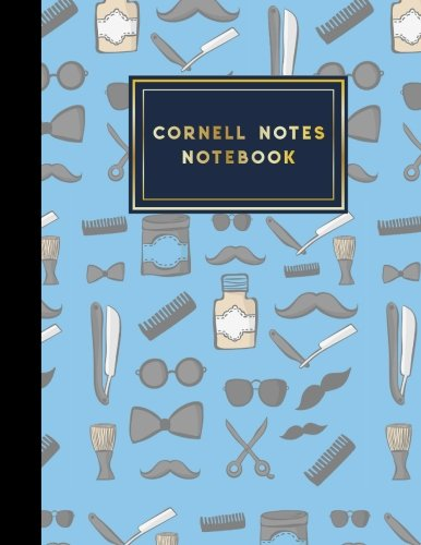 (Cornell Notes Notebook: Cornell Note Taking Notebook, Cornell Notes Pages, Note Taking Techniques, Cute Barbershop Cover, 8.5