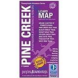 Pine Creek Lizard Map--Pennsylvania Grand Canyon - One Size - PURPLE