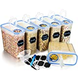 Best Cereal Dispensers - Wildone Plastic Cereal Containers Set | 6 Large Review