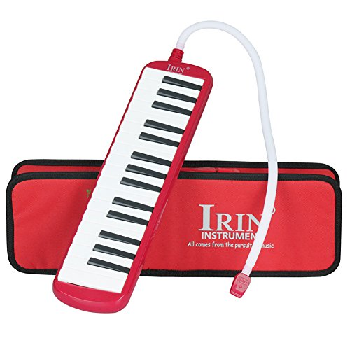 32 Piano Keys Melodica Musical Instrument Gift for Music Lovers Beginner with Mouthpieces and Carrying Bag, Easy to Learn and Play (Red) by Vbestlife