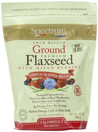 Spectrum Essentials graines de lin moulues aux petits fruits, 12 once