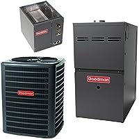 3 Ton 14 Seer Goodman 100,000 Btu 80% Afue Gas System GSX140361 - CAPF3642C6 - GMS81005CN