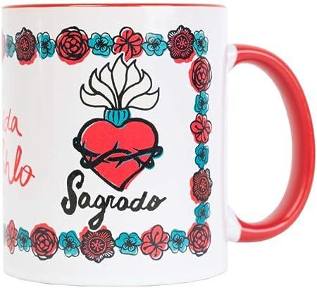 Amazon.com: Frida Kahlo - Taza de café con licencia oficial ...