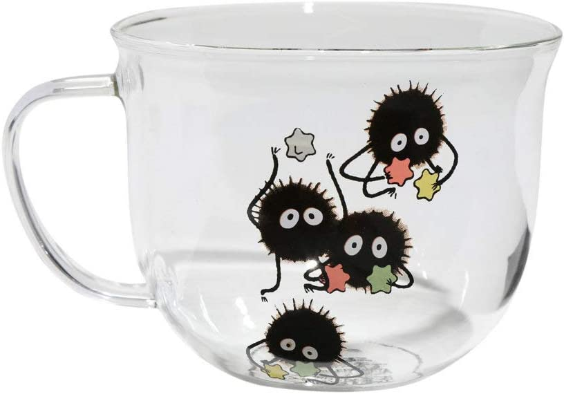 Amazon Com Studio Ghibli Spirited Away Soot Sprite Glass Mug Coffee Cups Mugs