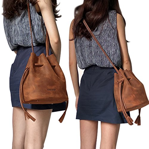 Ankooe Bucket Bag- Crafted in Top Grain Leather