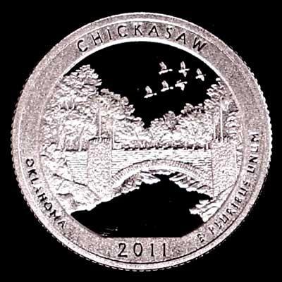 2011-S Oklahoma Chickasaw National Park Quarter Gem Silver Proof