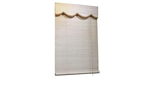 Chaxia - Cortina Enrollable de bambú para balcón, Pasillo, Tetera, cobertor de Pantalla a Prueba de Humedad, Duradero, Varios tamaños Personalizables: Amazon.es: Hogar