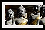 GreatBIGCanvas ''China, Beijing,Thai Buddha Sculptures'' by Ray Laskowitz Photographic Print with black Frame, 36'' X 24''''