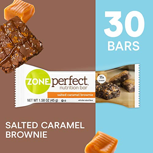 ZonePerfect Protein Bars, Salted Caramel Brownie, High Protein, With Vitamins & Minerals (30 Count) ()