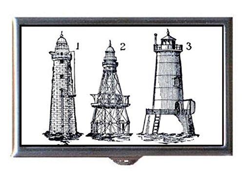 Lighthouse Clasp - Lighthouse Victorian Steampunk Graphic Art Decorative Pill Box