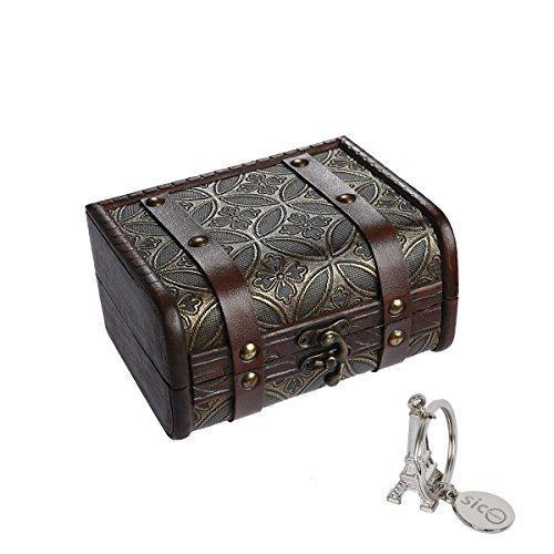 x 5.9 inch Small Trunk Box Vintage Jewelry Storage Treasure Cards Collection,Gift Box,Gifts and Home Decoration ()