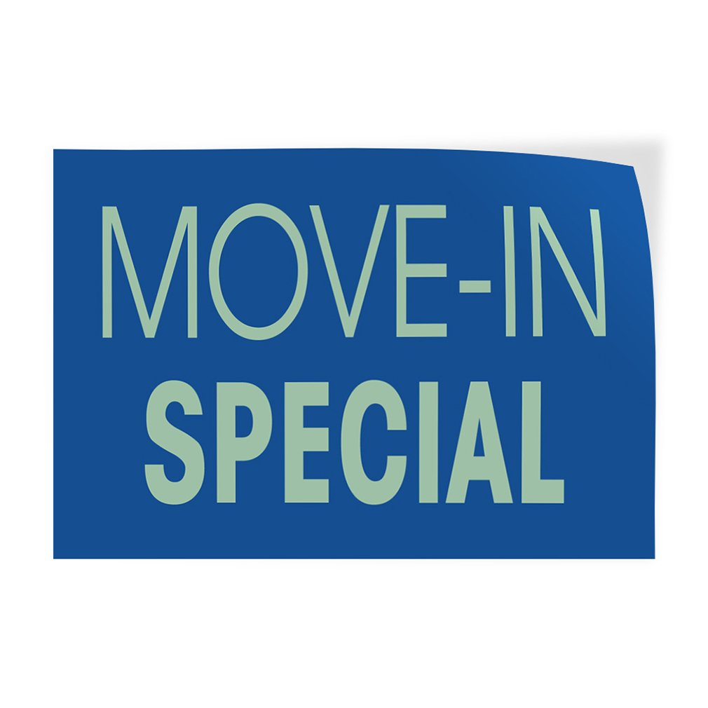 Decal Sticker Multiple Sizes Move-in Special #4 Business Move in Special Outdoor Store Sign Blue Set of 5 27inx18in