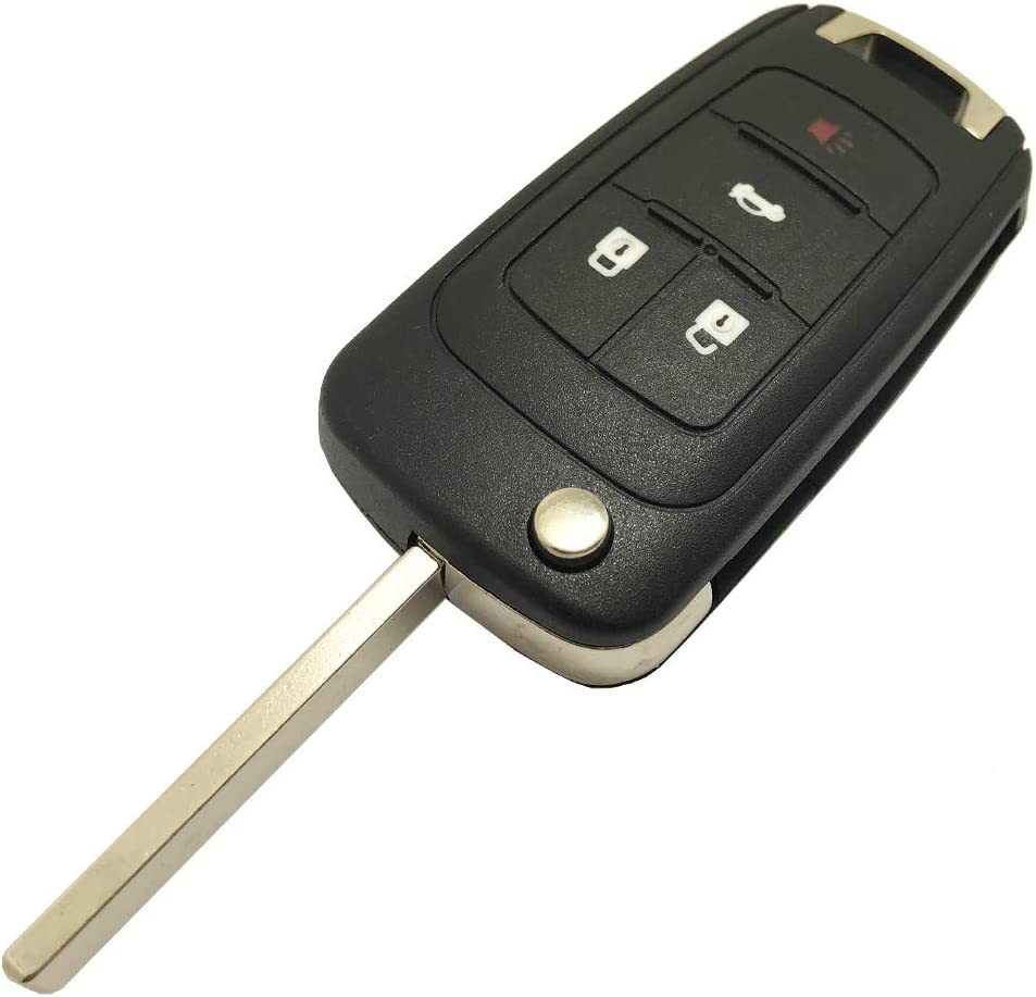 Replacement Keyless Replacement Flip Folding Key Shell Remote Key Fob Case fit for 2010 2011 2012 2013 2014 Chevy Chevrolet Camaro Cruze Malibu Equinox Sonic Impala Fob Cover