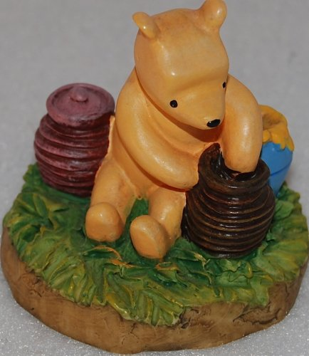 Disney Lenox Winnie The Pooh Thimble Collection Pooh With Hunny Pots Figurine