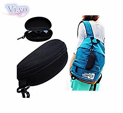 Vi.yo Glasses Case Sunglasses Safety Zipper Hard Case Holder With Carabiner Hook (Black) by Vi.yo (Image #4)