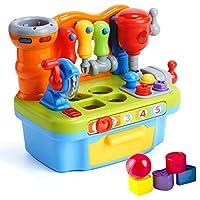 [Patrocinado] woby multifuncional herramienta de aprendizaje Banco Musical Toy Set para niños con Shape Sorter