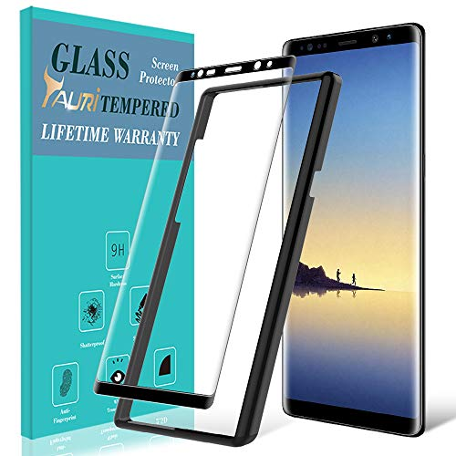 TAURI Screen Protector for Samsung Galaxy Note 8, [Alignment Frame] [Case Friendly] Tempered Glass Screen Protector with Lifetime Replacement Warranty - Black