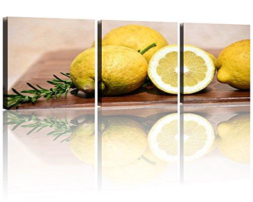 Fresh Yellow Lemon Wall Art Painting Kitchen Decoration Fruit