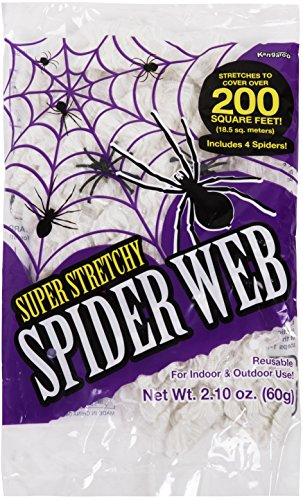 Kangaroo's Strechy Spider Web - 16 (Cool Halloween Decorations)