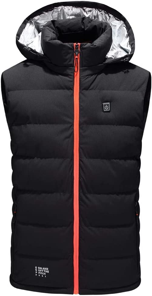 wuliLINL Heated Vest Smart USB Charging,Electric Heating Clothing,Sleeveless Vest Coat,Washable Adjustable for Outdoor,Motor,Fishing,Hiking,Hunting,Camping(Battery Not Included)