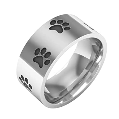 Amazon.com: FURONGWANG - Anillo unisex de acero inoxidable ...
