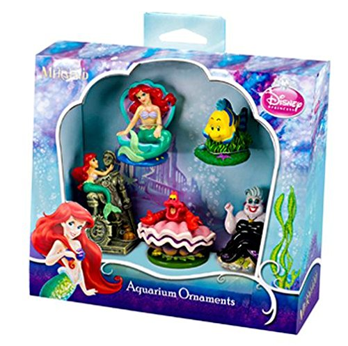 Mini Resin Ornament - Penn Plax Little Mermaid 5-Piece Mini Resin Ornaments for Aquariums