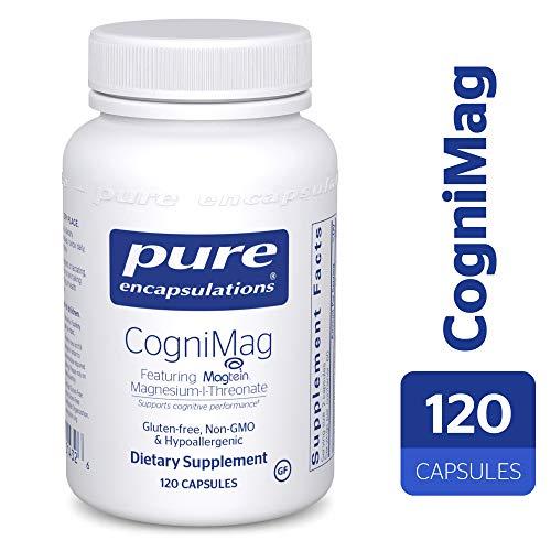 Pure Encapsulations - CogniMag - Hypoallergenic Supplement with Magtein Magnesium-L-Threonate - 120 Capsules