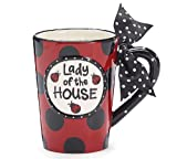 ''Lady Of the House'' Ladybug 13 ounce Coffee Mug Adorable Gift