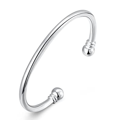 Amazon Com Somuns 925 Sterling Silver Bangle Bracelet Fashion