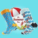 Bonangel Men's Fun Dress Socks-Colorful Funny