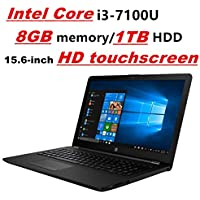 HP Pavilion Laptop PC Notebook, Intel Core i3-7100U, 8GB DDR4, 1TB HDD, 15.6 HD touchscreen, DVD-Writer, Card Reader, WIFI, Bluetooth, Windows 10