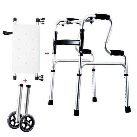 LHNLY-Andadores Estándares Andador Plegable Asiento y 2 ...
