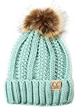 H-1820kids-54 Fuzzy Lined Pom Hat - Mint